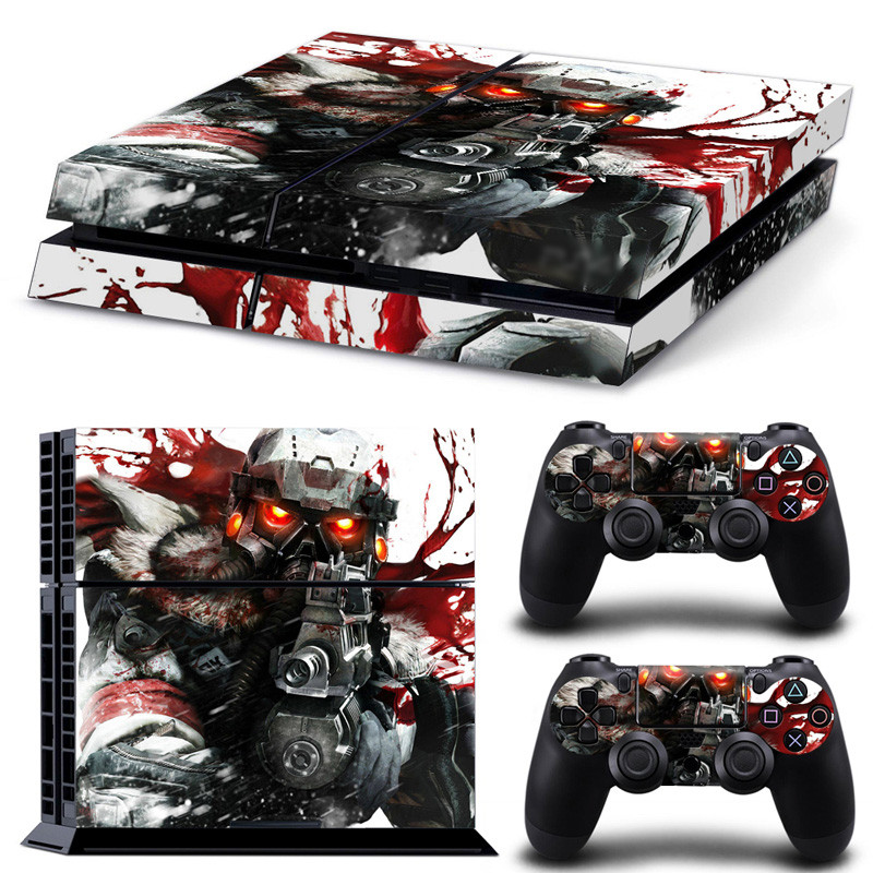 Cool man for Vinyl Decal Protective Skin Cover Sticker for Sony PS4 Console and Two Controller Covers #TN-PS4-0036