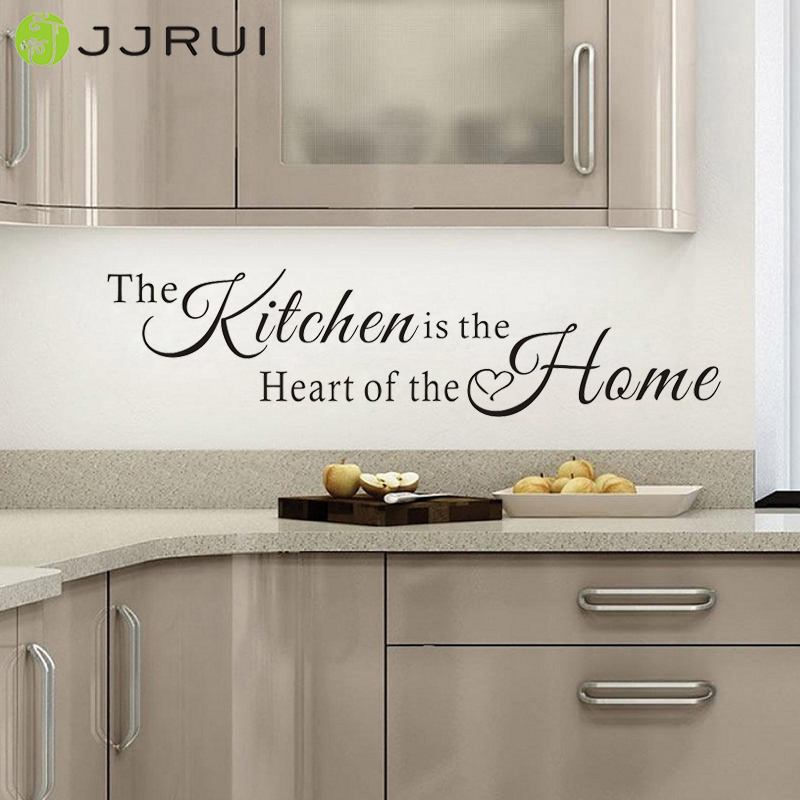 JJRUI Wall Quote Art The Kitchen is a Heart of the Home Wall Sticker Art Decals DIY Decor Home Decoration Choose 21 Color