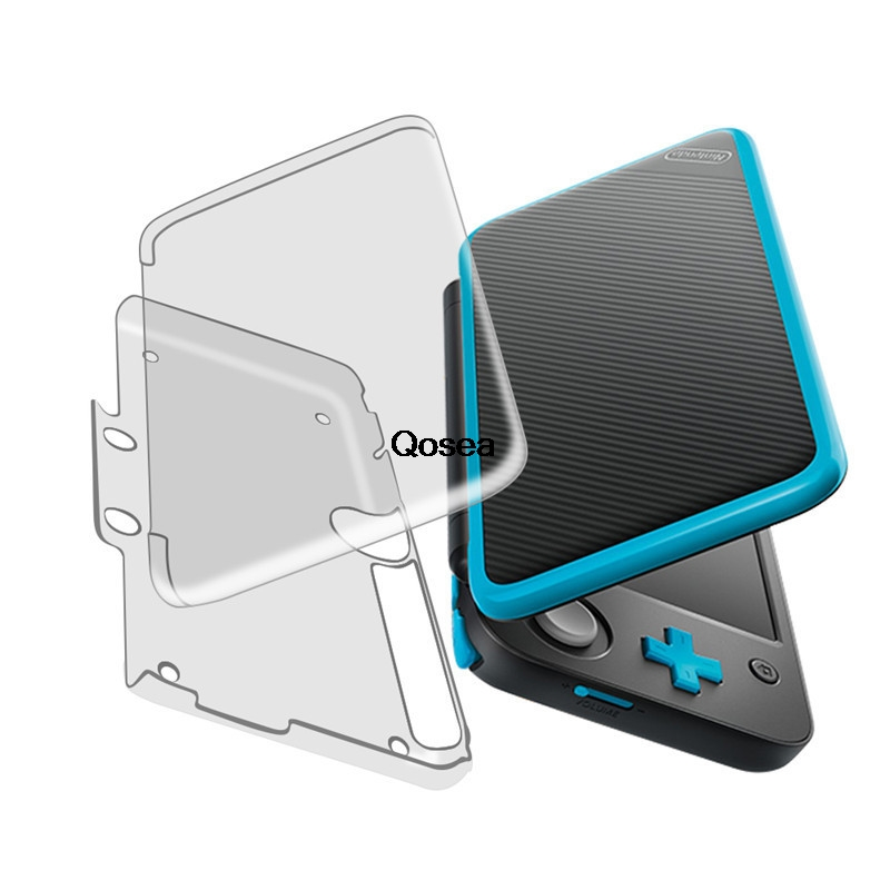 Qosea For Nintend Switch 2DS XL Nintendo 2DSXL LL Case Ultra Clear Crystal PC Hard Plastic Transparent Protective Back Cover
