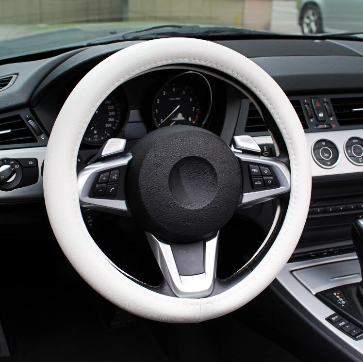 Free shipping Hot Sale PU Leather Car Steering Wheel Cover Case size S 37cm AUTOMOTIVE INTERIOR ACCESSORIES FL-3098