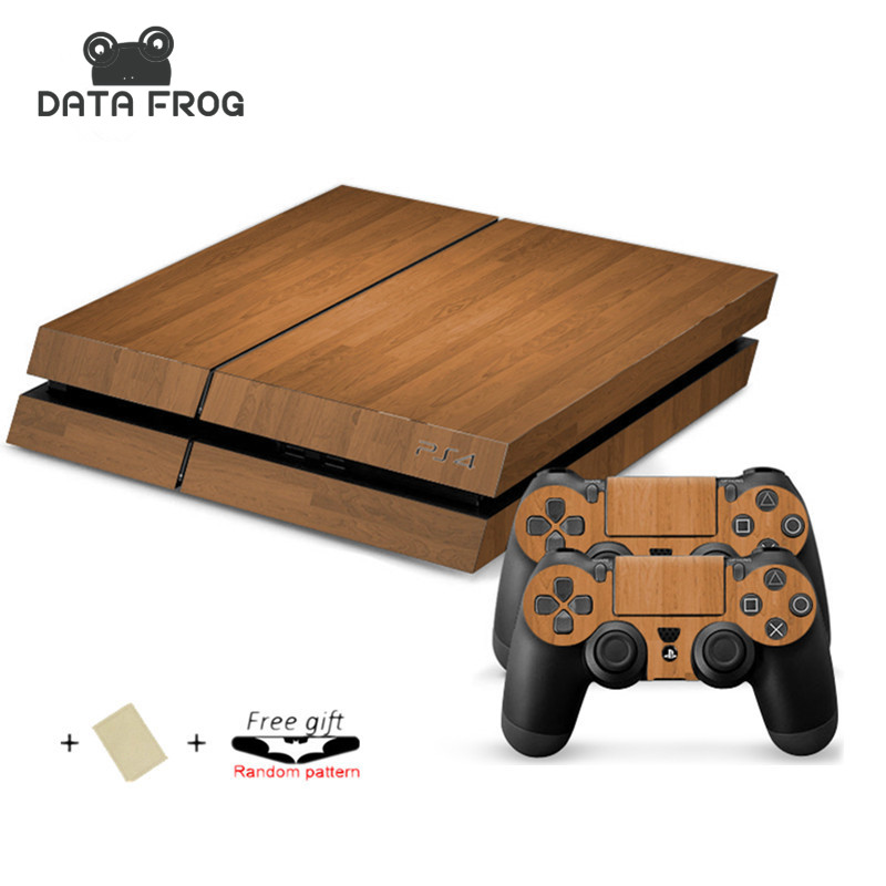 Custom Skin Sticker for Sony Playstation 4 Console System For PS4 Dualshock 4 Controller For ps4 console Wood grain