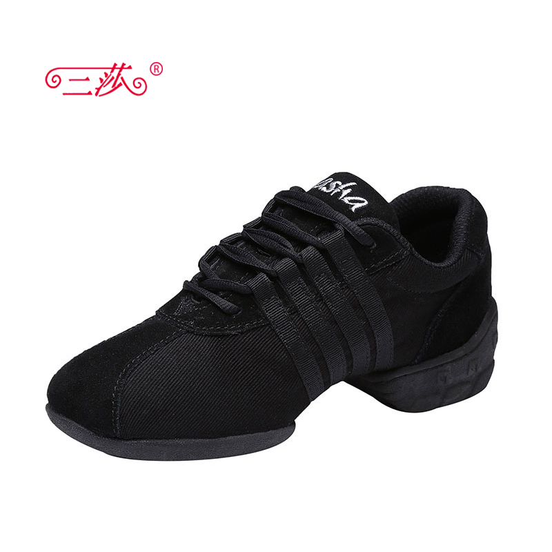 sasha women canvans leather Jazz majoring in Pop dance Sneakers shoes lady sports dance shoes Four color Teacher ShoesT01