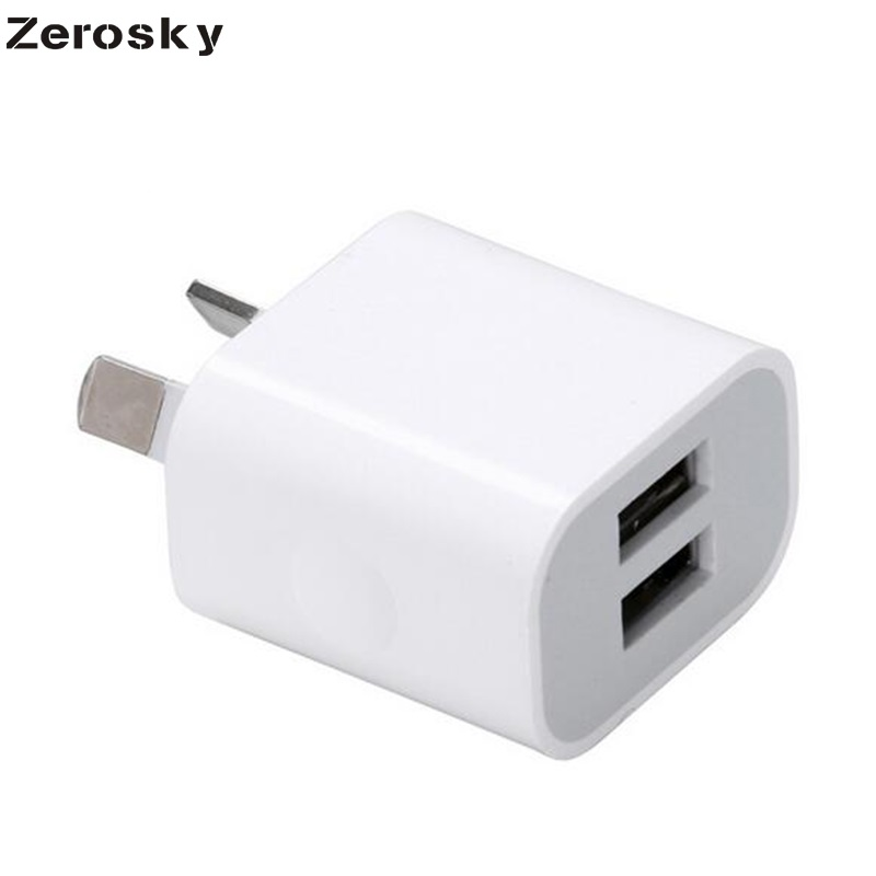 Zerosky Dual Interface 5V 2A AU Plug USB Wall Charger Power Travel AC Adapter
