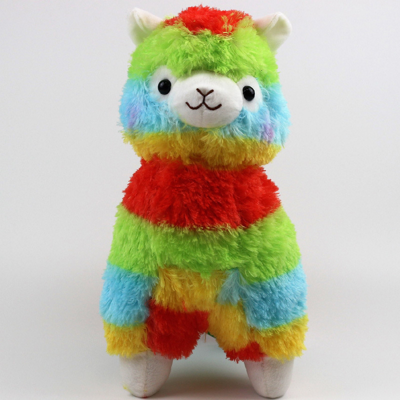 35cm Kawaii Alpaca Plush Rainbow Vicugna Plush Toys Japanese Alpacasso Soft Toys Doll Stuffed Animals Toy Kids Christmas Gift