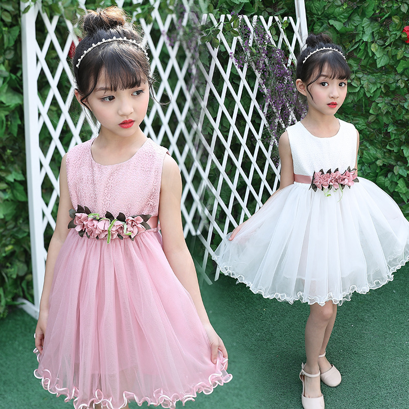 so beautiful good quality comfortable cute baby Clothes Children Clothing 2017 new summer boys Girls Kid 3D Flower lace dress 20