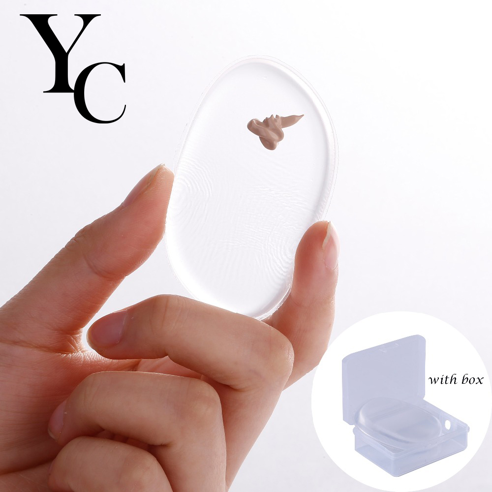 Yansh Makeup Foundation Silicone Blender Blending Puff Transparent Silica Flawless Powder Beauty Sponge Make Up Puff