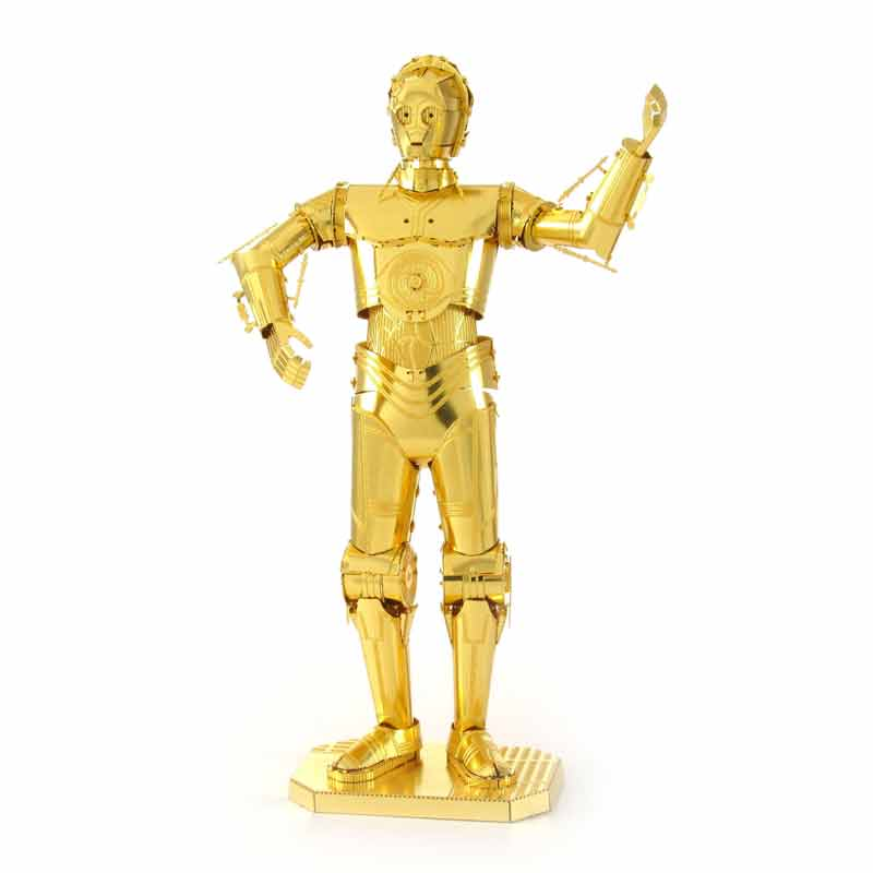 3D Metal Puzzles for children Adult Model kids Toys for Children Jigsaw Star wars C3PO metal puzzle educational toys Gifts