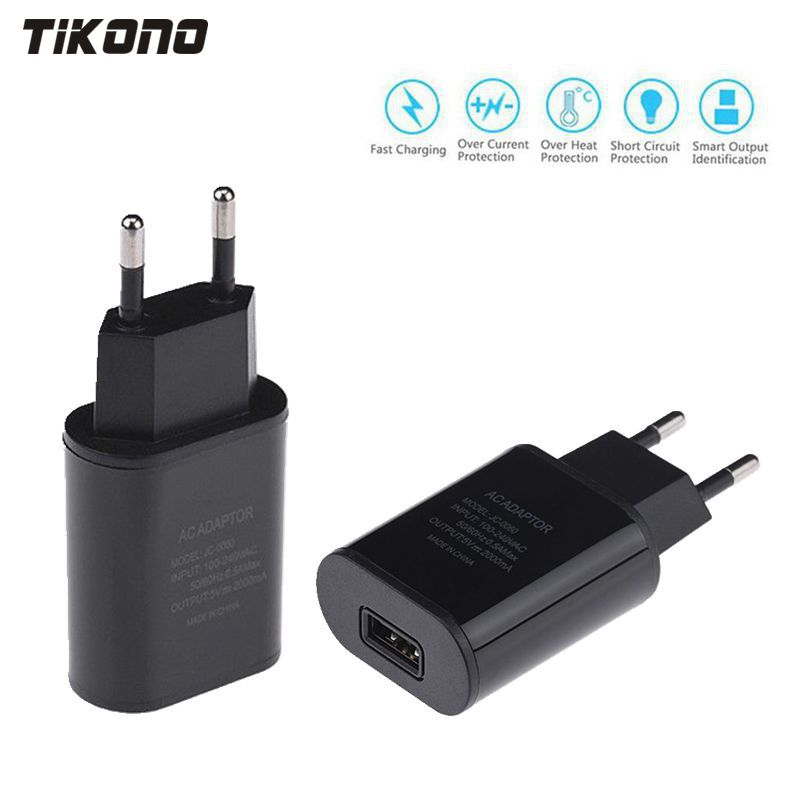 Top Quality 5V 2A EU Plug USB Fast Charger Mobile Phone Wall Travel Power Adapter For iPhone 6 6s 7 Plus Samsung S7edge Xiaomi