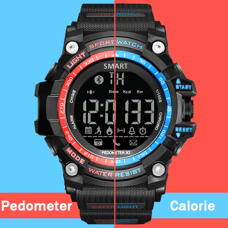 Sport Digital Watches Men Pedometer Calorie Led Bluetooth Electronics Wristwatch Waterproof Running Relogio Masculino Hodinky 49