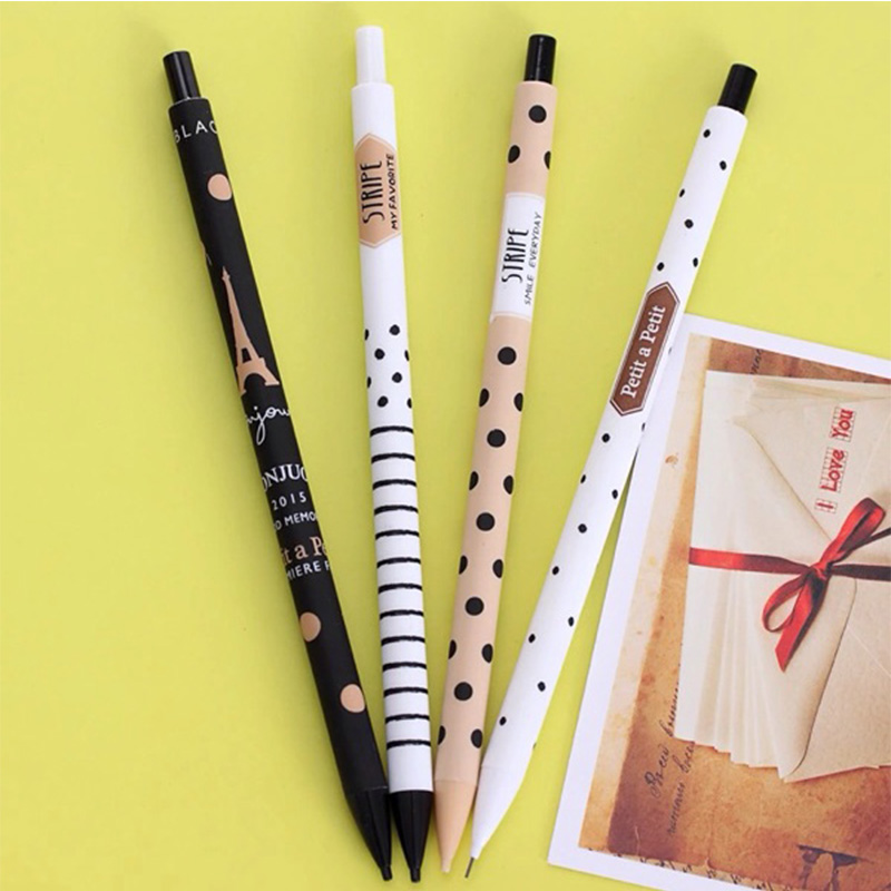 1PCS/lot Fashion Kawaii dot mechanical pencils/0.5mm point Good quality writing pencils for school kids girls students