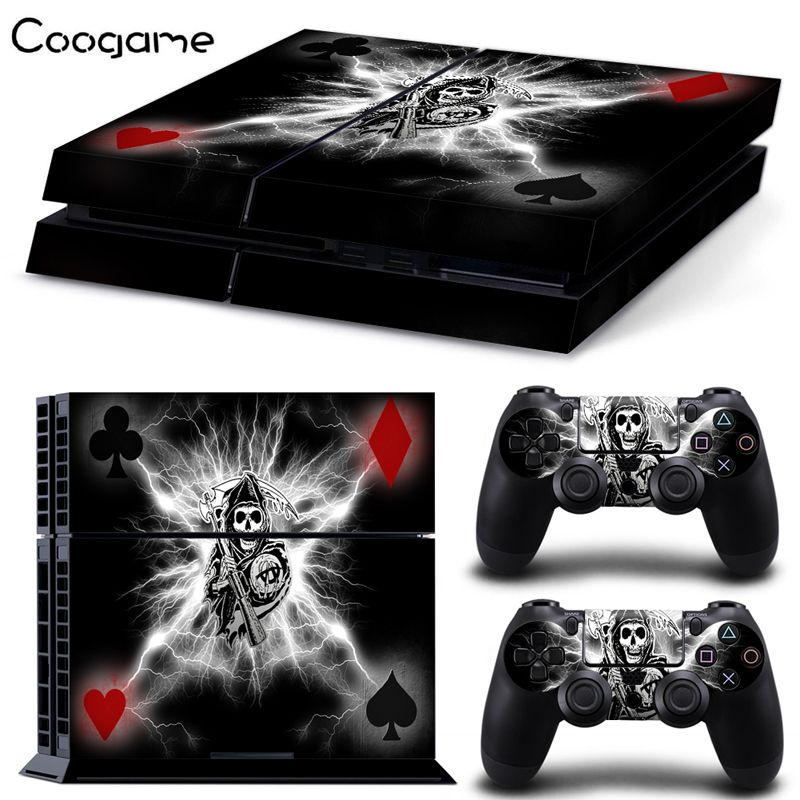 Poker Card Skin Sticker For Sony PS4 Console & 2 Controller Skins For Playstation 4