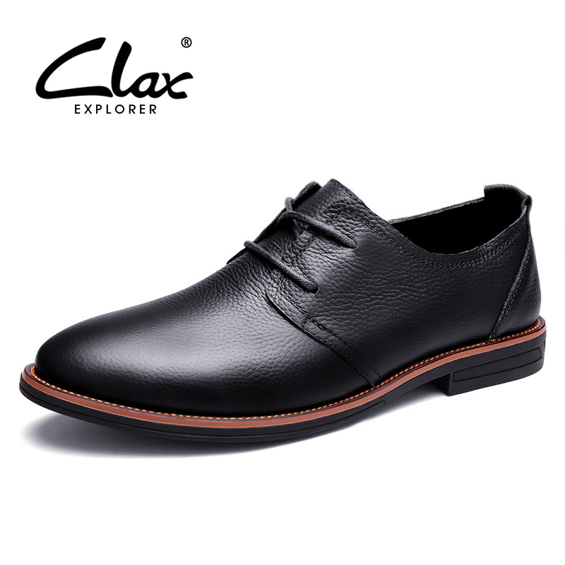 Clax Oxfords Men Genuine Leather Brand Spring Autumn Men's Formal Leather Shoes Dress Biritsh Vintage Retro Shoe Elegant Shoe