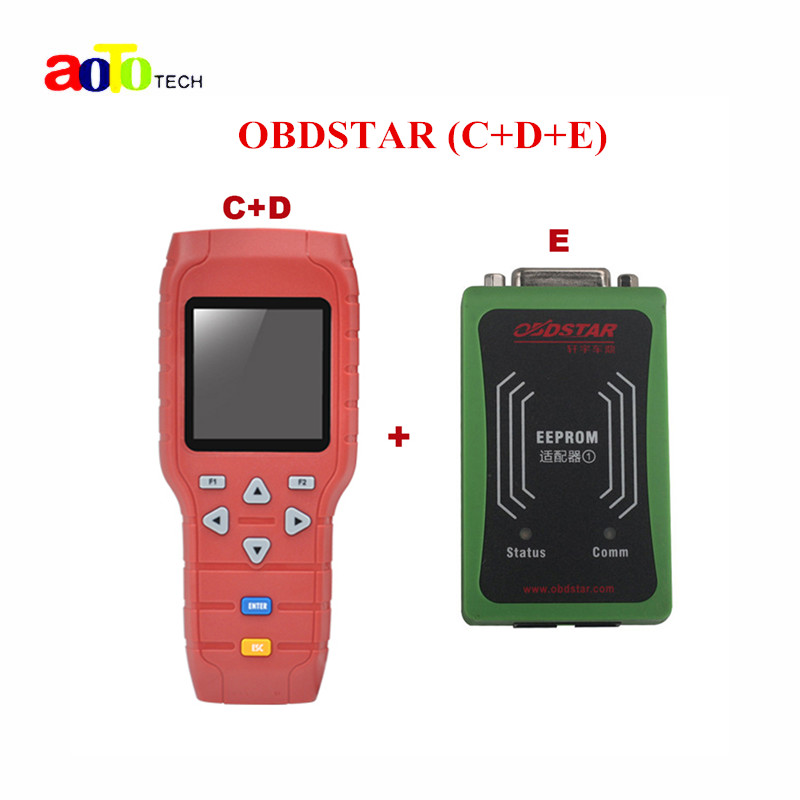 Original OBDSTAR X-100 x100 PRO Auto Key Programmer (C+D+E) including EEPROM adapter for IMMO+Odometer+OBD+EEPROM