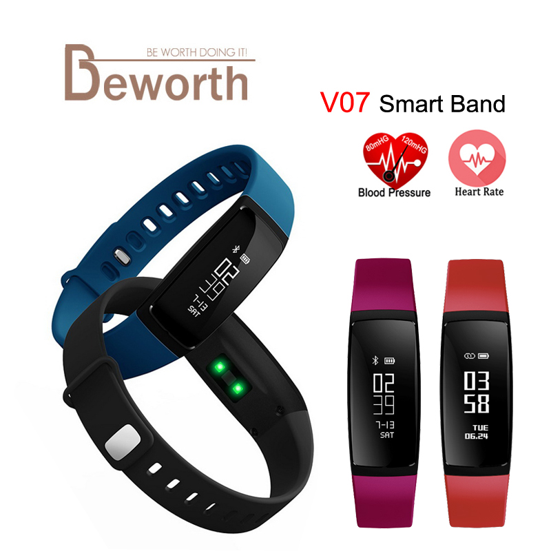 V07 Smart Band Wristband Band Heart Rate Blood Pressure Pedomet Bracelet Fitness V07S For iOS Android Phone PK Mi Band 2 Fitbits