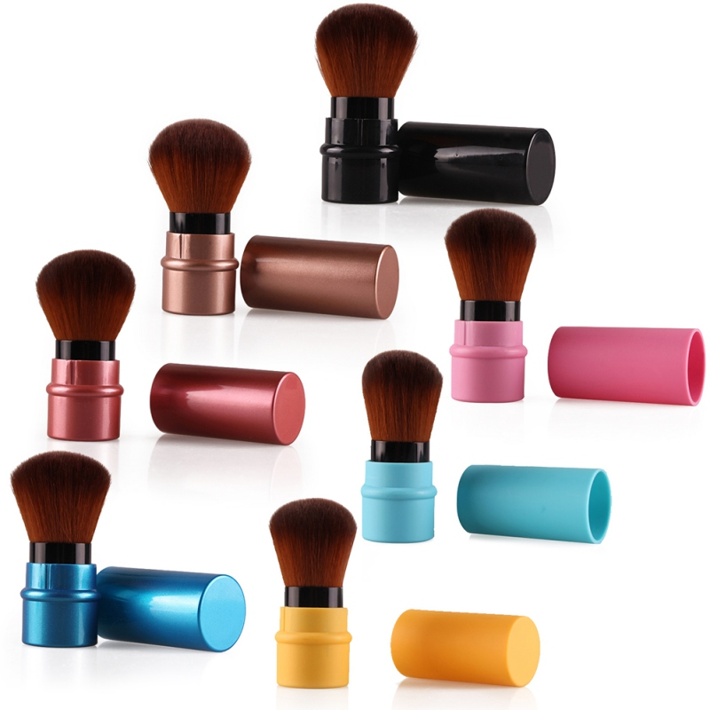 New Design 1Pcs MIni Soft Makeup Brush Retractable Pro Foundation Cosmetic Blusher Face Powder Brushes Beauty Tools