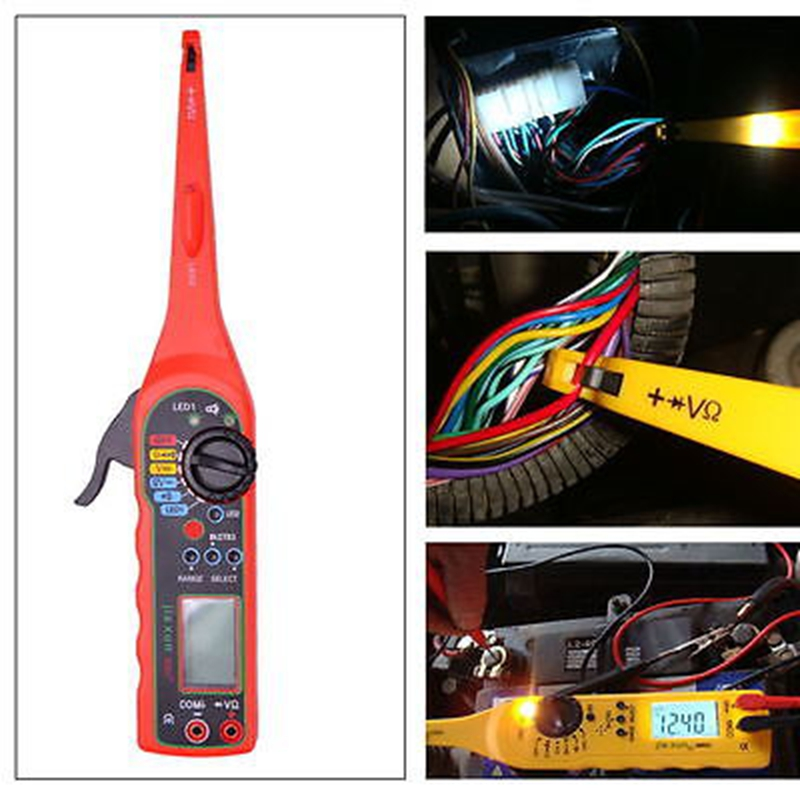 2016 NEW Multi-function Auto Circuit Tester Multimeter Lamp Car Repair Automotive Electrical Multimeter Diagnostic Tool