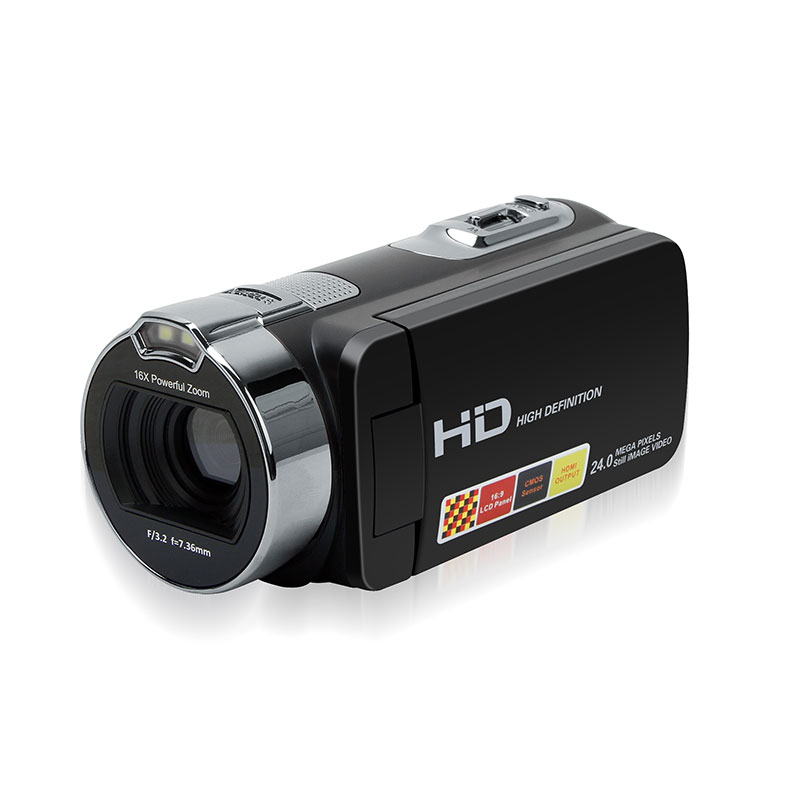 Portable 2.7 Inch HDV-312P Digital Video Camera Camcorders DV Rotating LCD Screen Digital Cameras Micro Cameras EU/US/UK Plug