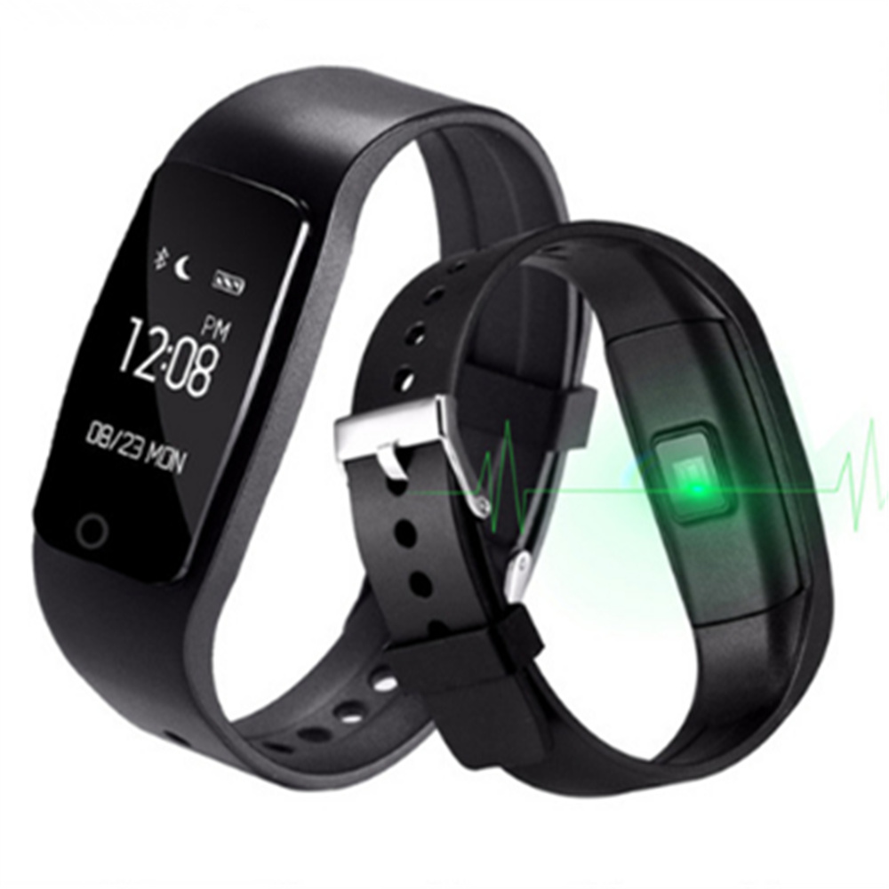 S1 Smartband Smart Bracelet Wristband Bracelet with Heart Rate Smart Fitness Touchpad OLED Better Than Fitbit For IOS Android
