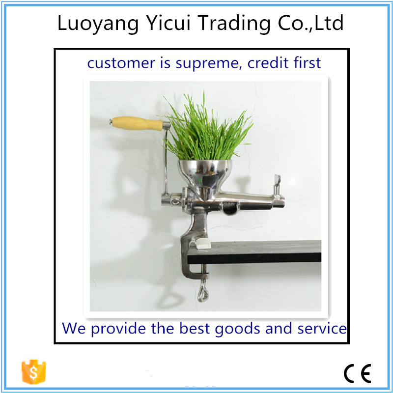 Manual Juicer Extractor Stainless Steel Hand wheat Grass Juicer ,manual Auger Slow Juice Fruit ,Juice Extractor Machine