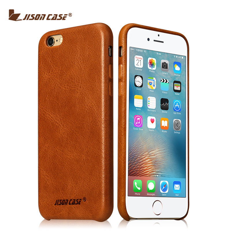 Jisoncase for iPhone 6s 4.7 inch Case Genuine Leather Cover for iPhone 6 Luxury Brand Phone Cases Light-weight for iPhone 6s 6