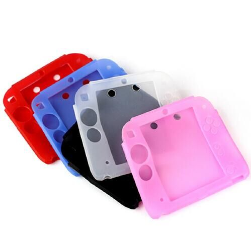 5 colors soft silicone protective cover rubber bumper case for Nintendo 2DS Free Shipping