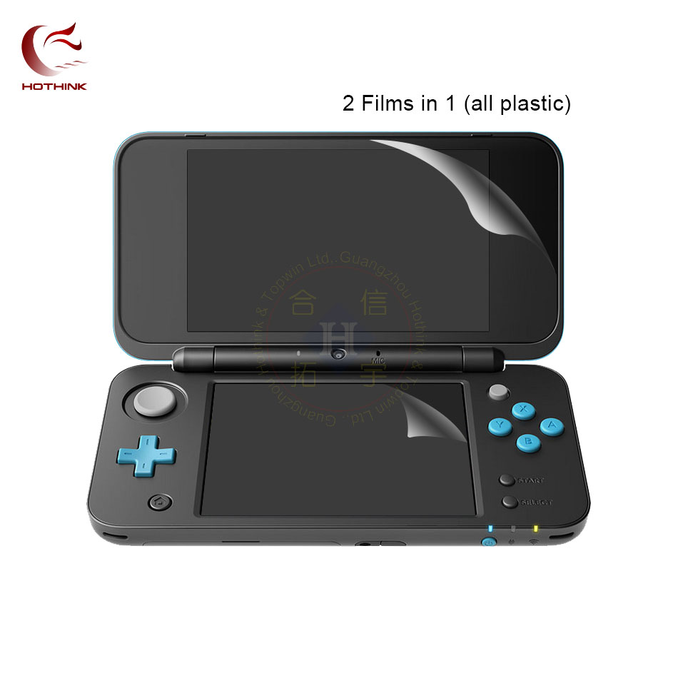 2pcs/lot Top Upper Screen Protector Film + Bottom Film For Nintendo NEW 2DS XL / 2DS LL accessories