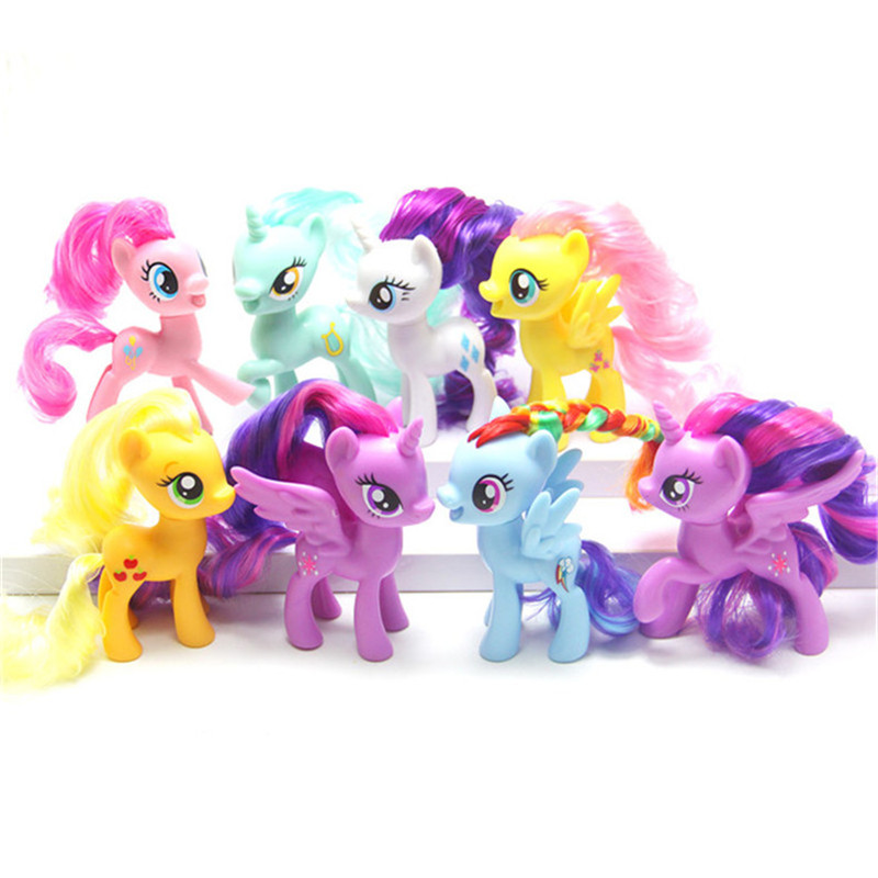 Pony Toys Horse in Action Figure 8CM Colorful different styles Vinyl Doll Toy Model PVC Doll For over 6 year Girls Gift Kids Toy