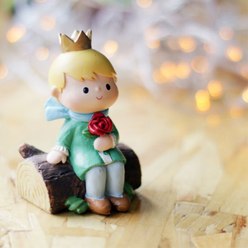 Mini little Prince Artificial Miniatur Resin Craft Landscape Ornaments Accessories Micro Landscape Craft Home Garden Decoration