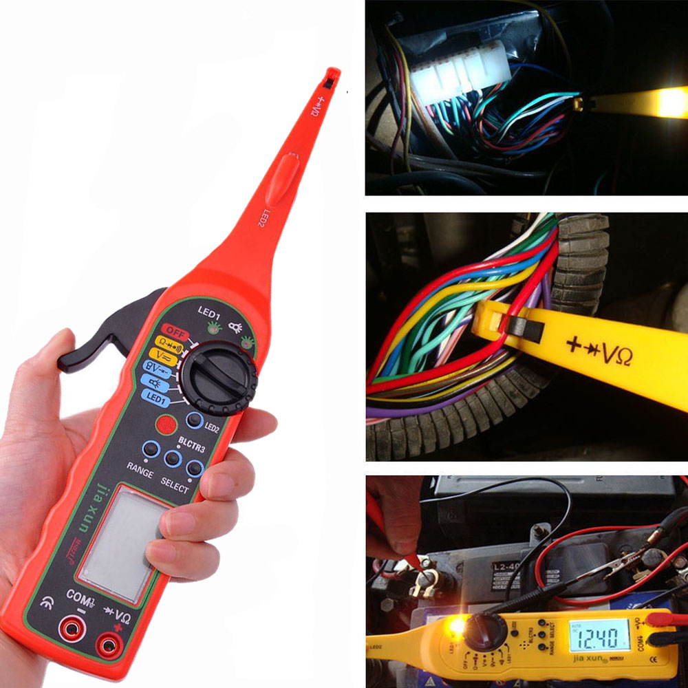 2016 Multi-fonction Auto Circuit Tester Multimètre Lampe la Réparation de Voitures Automobile Multimètre Électrique 0 V-380 V Tension