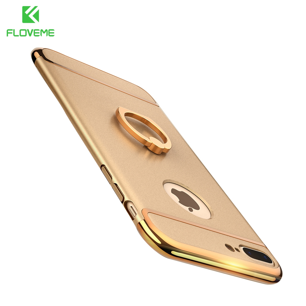 FLOVEME Luxury Ring Holder Cover For Samsung S8 Plus Armor Case For Samsung Galaxy Note 8 S8 Plus Cases Mobile Phone Accessories