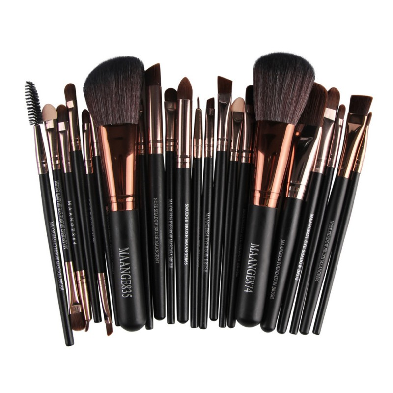 22 Pcs New Pro Makeup Brush Set Powder Foundation Eyeshadow Eyeliner Lip Cosmetic Brush Kit Beauty Tools