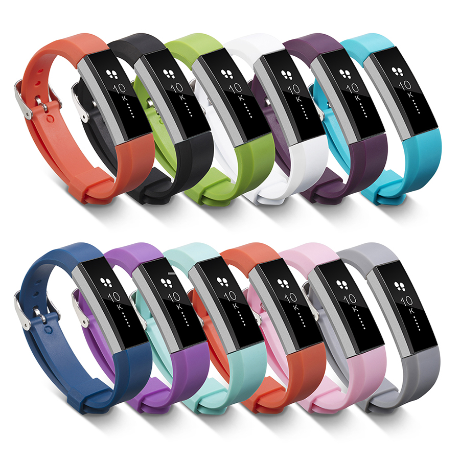 For Fitbit Alta HR Band Silicone Wristband Replacement Wrist Band with Metal Clasp For Fitbit Alta Smart Watch Bracelet
