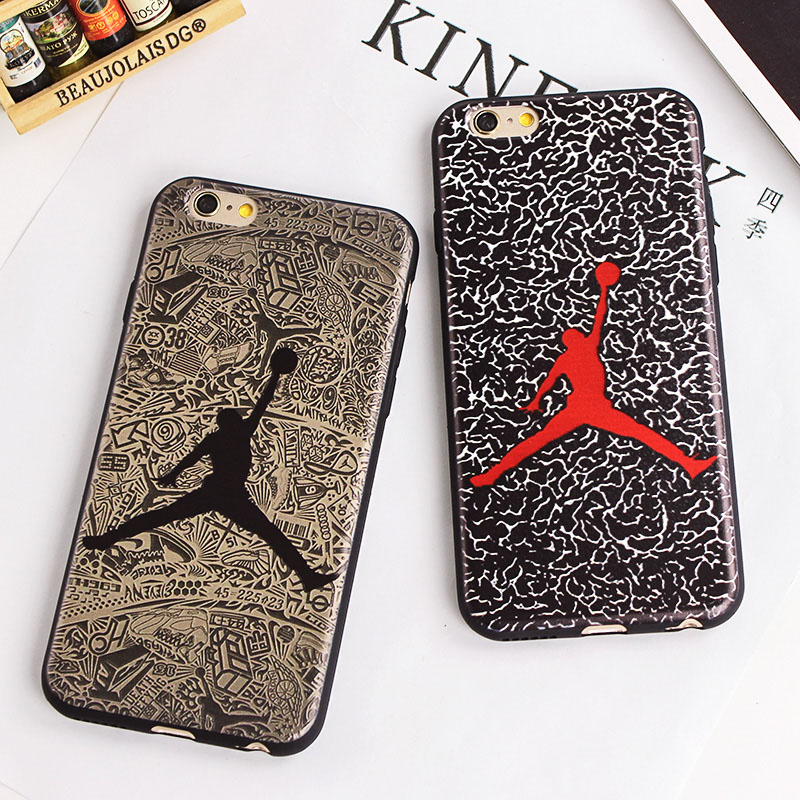 SuperNBA Super Star Air Jordan Soft Cases for iPhone 7 6 6S 4.7 5 5s / Plus 5.5 TPU soft Mobile Accessories Covers Fundas Movil