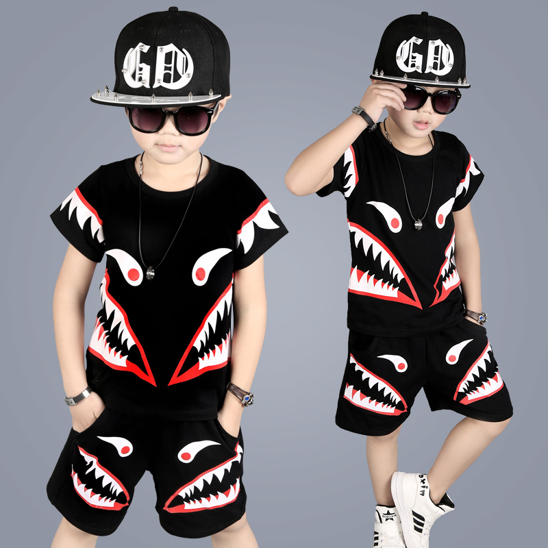 Kids Boys Clothes 4-10 Years Old Summer 2017 New Fashion Style Children Clothing Good Quality Toddler Baby Boys Set A388