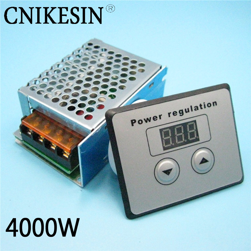 4000W SCR high power 220W electronic digital voltage regulator, digital control, dimming, speed regulation, temperature control