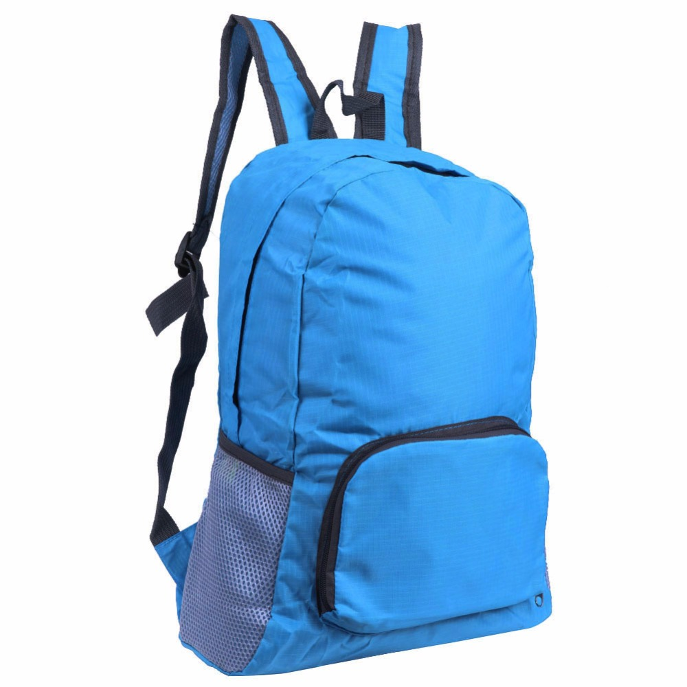 Polyester Waterproof Foldable Backpack Hiking Bag Outdoor Sports Cycling Bicycle Camping Mountaineering Climbing Travel Rucksack