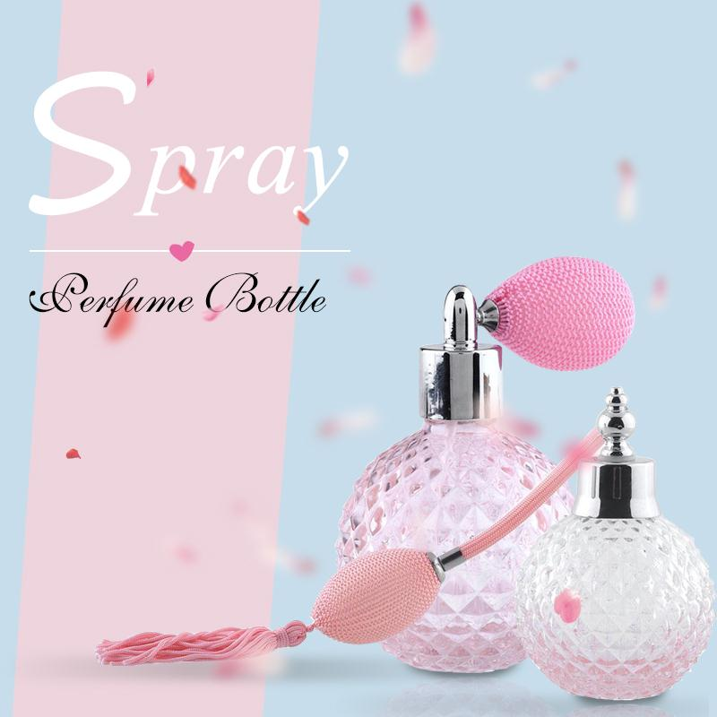 100 ml Spray Empty Refillable Bottle Lady Gift Vintage Glass Perfume Bottle