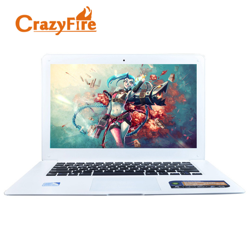 Crazyfire 8GB RAM & 256GB SSD Quad Core Laptop ordenador portatil Computer Notebook 14 Inch 1600*900 Screen Windows 10 Laptops