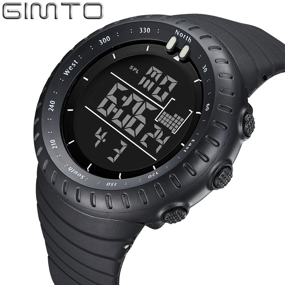 GIMTO Digital Men Sports Watches Waterproof LED Swim Dive Military Watch for Man S Shock Outdoor Quartz-watch Male Gift Clock