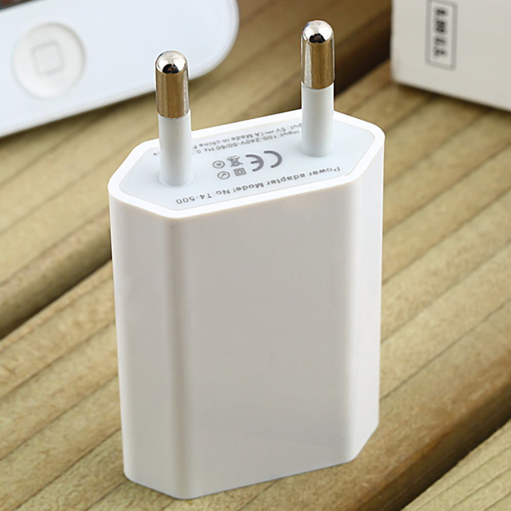 10pcs/lot 5V 1A Wall Charger USB Travel Moblie Phone EU AC Plug Power Adapter for iPhone 4/4s/5/5s/6s/6Plus for Sumsung HTC