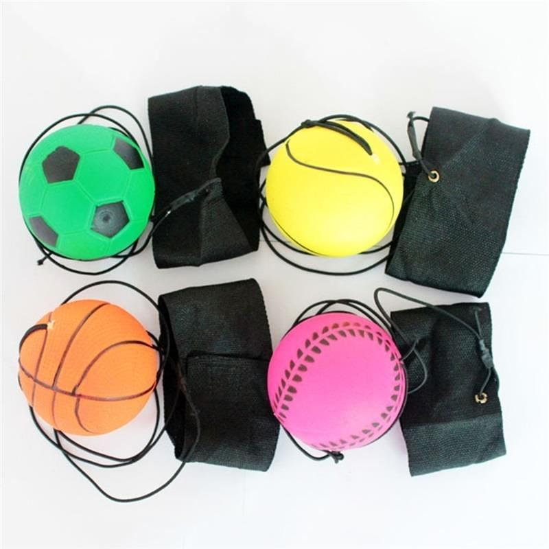 Return Sponge Rubber Ball Elastic Sport On Nylon String Children Kids Outdoor Toy