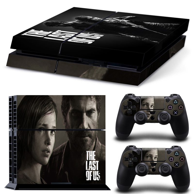 The Last of Us skin sticker for playstation 4 ps4 console and controllers PVC vinyl protective sticker for ps4 games