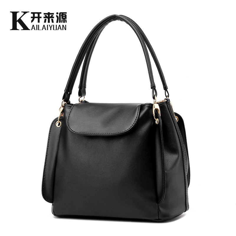 100% Genuine leather Women handbags 2017 New package female simple software package portable shoulder bag women Messenger