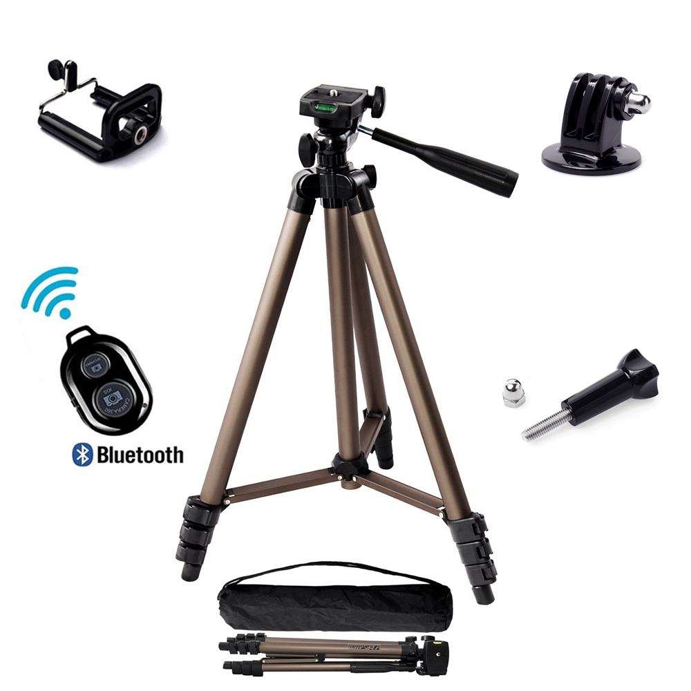 5 in 1 WT3130 Aluminum alloy Camera Tripod Stand with Rocker Arm for Canon Nikon Sony gopro iphone Samsung xiaomi huawei Android