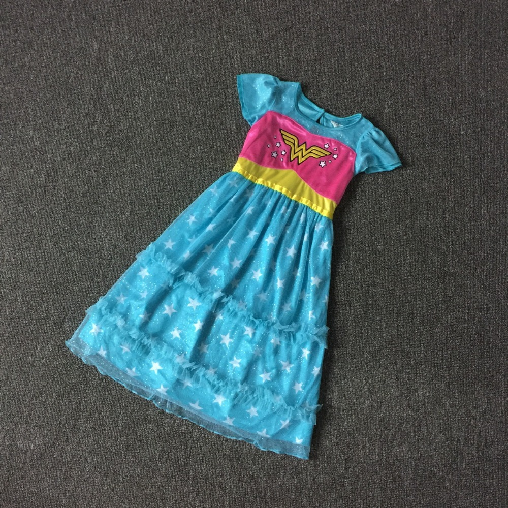 2 3 years girls fashion brand cartoon summer dress kids good quality blue dress cute clothes for girls