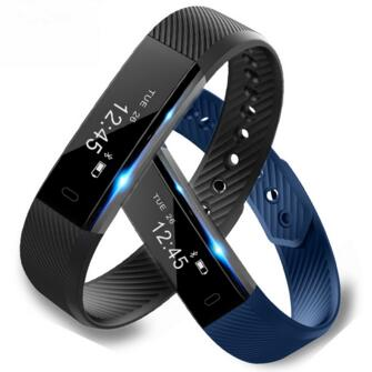 Hottest Smart Wristband ID115 Smart Band pedometer Fitness Tracker Clock Smart Bracelet for IOS android Pk fitbit PK mi band 2