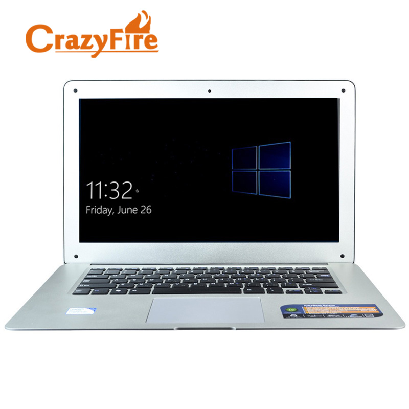 Crazyfire Gaming Laptops 14 Inch Laptop Computer Quad Core 2.0GHz 4GB DDR3 320GB HDD With Windows 10 Notebook Ordenador Portatil