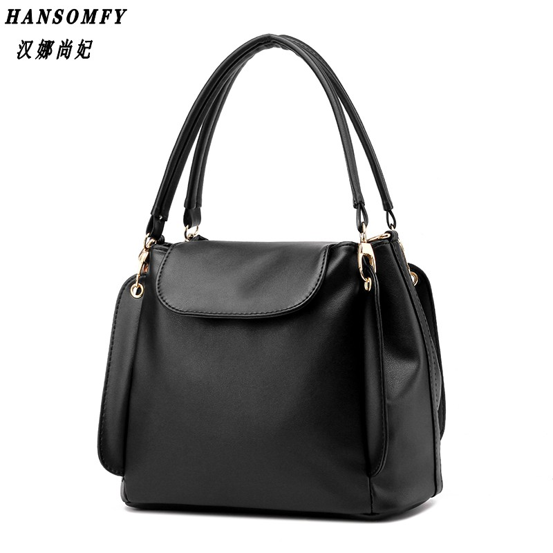 HNSF 100% Genuine leather Women handbags 2017 New package female simple software package portable shoulder bag women Messenger