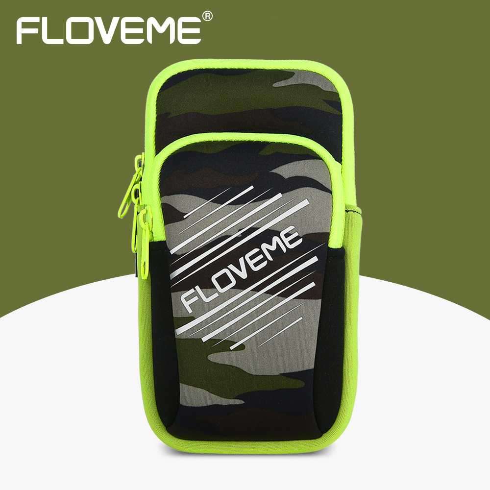 FLOVEME Arm Band Phone Case For iPhone 8 6 6S 7 Plus Breathable Double Pouch Running Brand Sports Bag Mobile Phone Accessories
