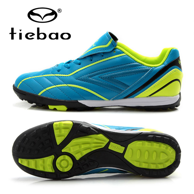 TIEBAO Professional Children Kids Football Shoes TF Turf Soles Shoes Sneakers Outdoor Sport Boys Girls Soccer Boots Cleats